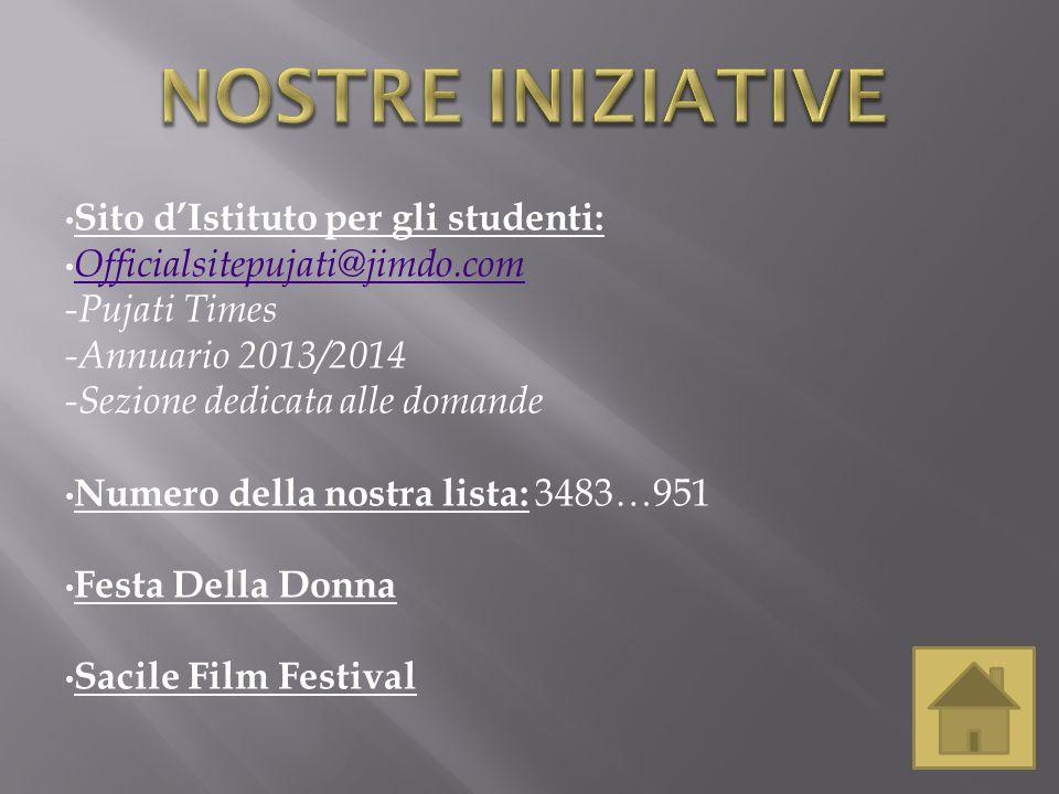 Homepage del sito d'Istituto