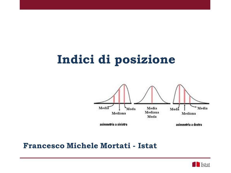 Indici di posizione Francesco Michele Mortati - Istat