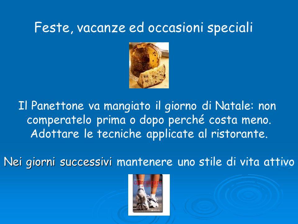 Feste, vacanze ed occasioni speciali Il Panettone va mangiato il giorno di Natale: non comperatelo prima o dopo perché costa meno.