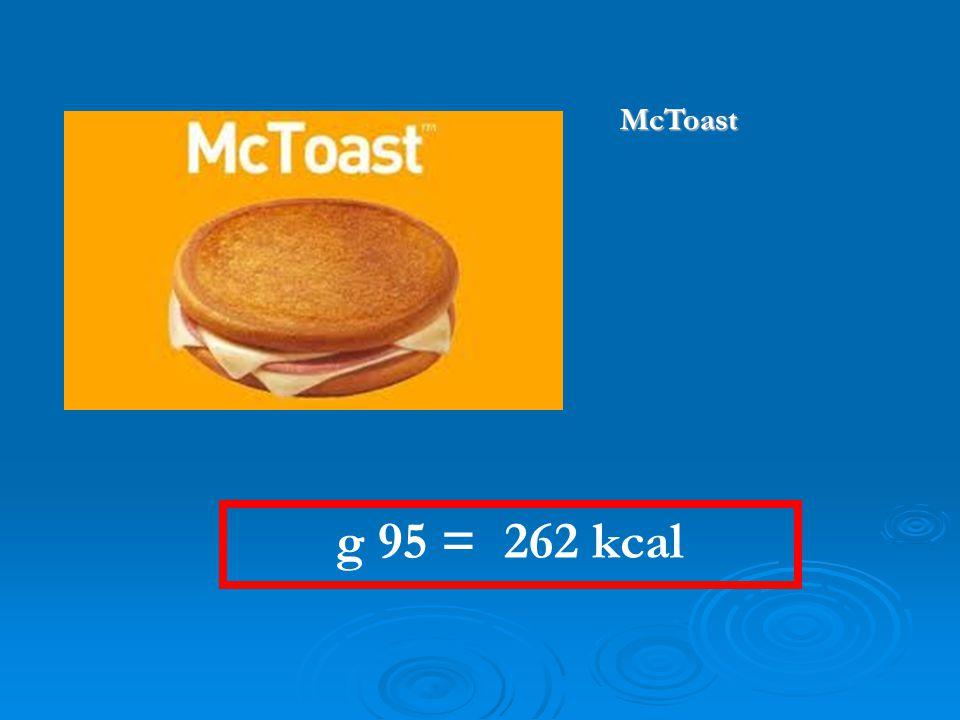 g 95 = 262 kcal McToast