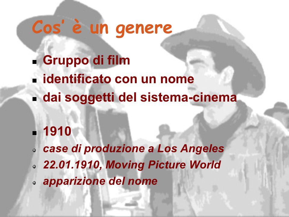 Cos' è un genere Gruppo di film identificato con un nome dai soggetti del sistema-cinema 1910 case di produzione a Los Angeles 22.01.1910, Moving Pict
