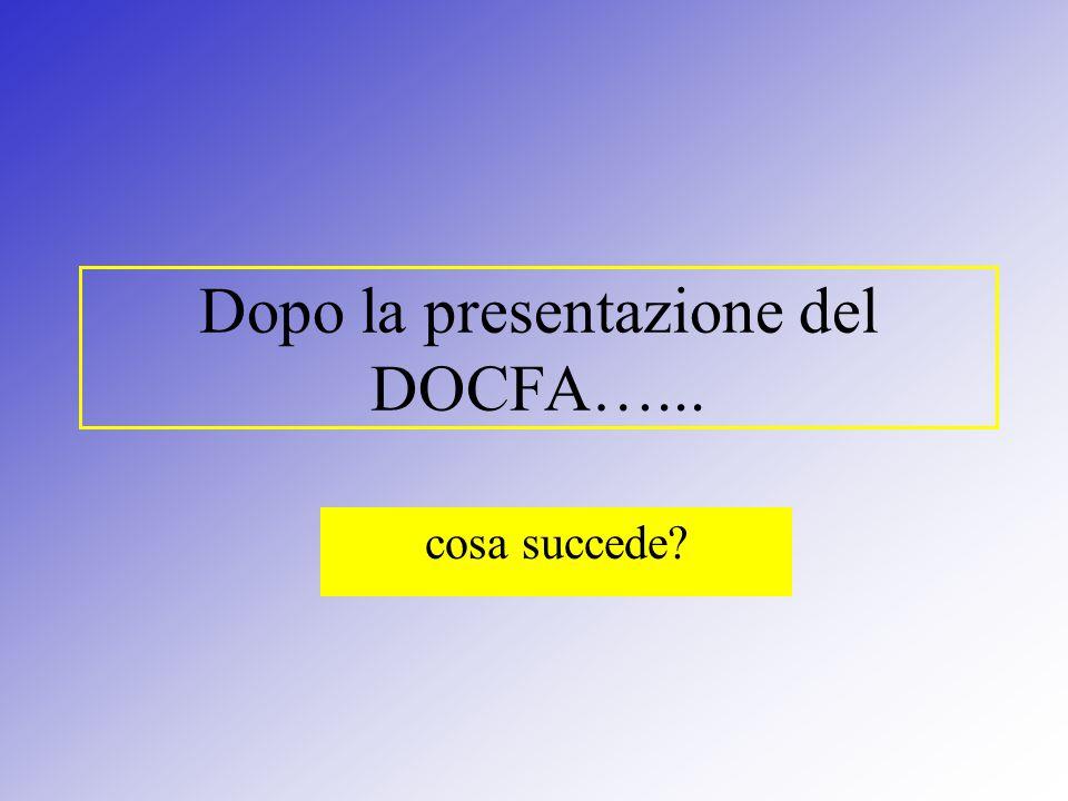 Dopo la presentazione del DOCFA…... cosa succede?