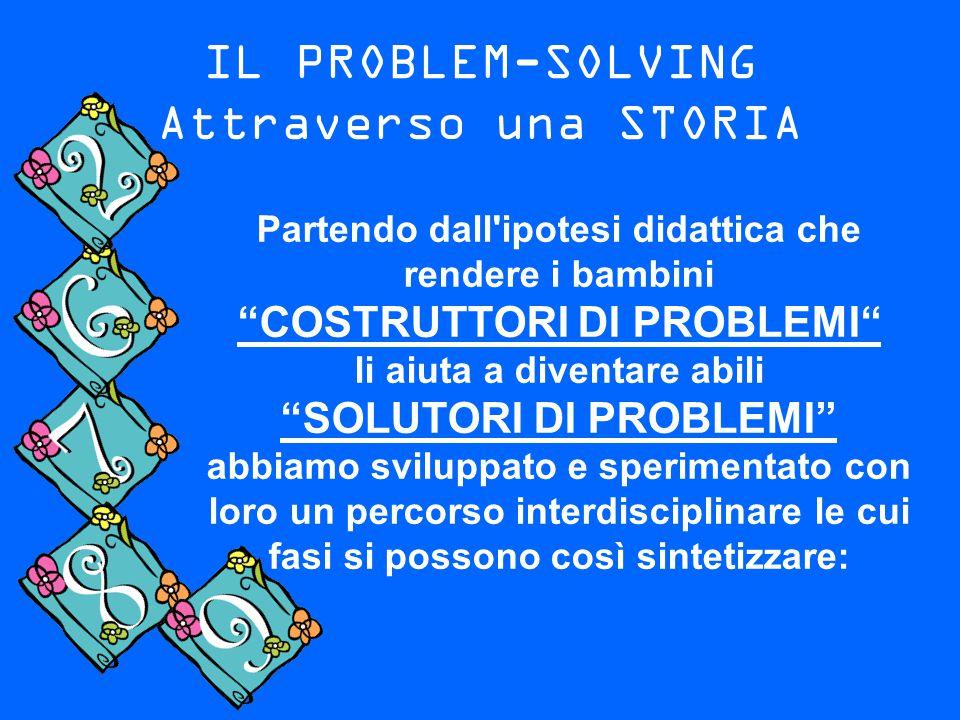 """IL PROBLEM-SOLVING Attraverso una STORIA Partendo dall'ipotesi didattica che rendere i bambini """"COSTRUTTORI DI PROBLEMI"""" li aiuta a diventare abili """"S"""