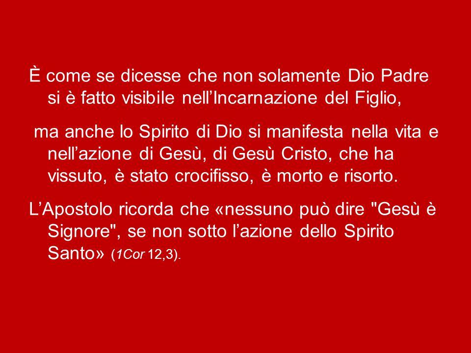 San Paolo parla dello Spirito di Cristo (cfr Rm 8,9), e non solo dello Spirito di Dio. È ovvio: se Cristo è il Figlio di Dio, il suo Spirito è anche S