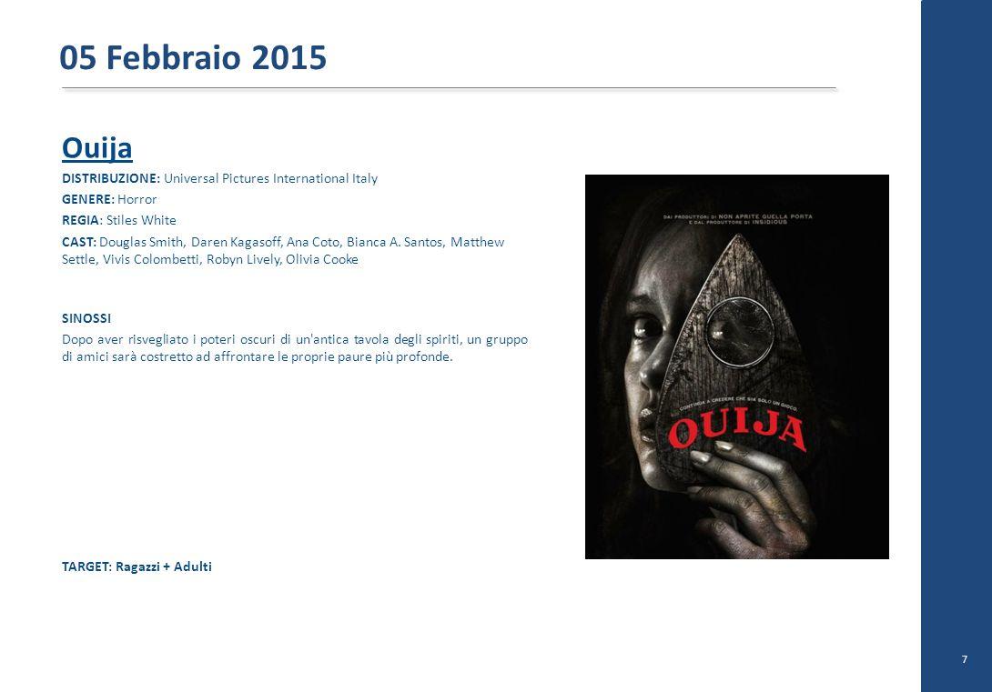 Ouija DISTRIBUZIONE: Universal Pictures International Italy GENERE: Horror REGIA: Stiles White CAST: Douglas Smith, Daren Kagasoff, Ana Coto, Bianca A.