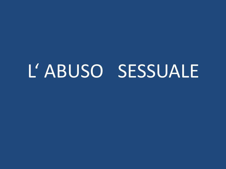 E' errato considerare l'abuso sessuale un episodio occasionale, nella stragrande maggioranza dei casi è un fenomeno abitudinario.