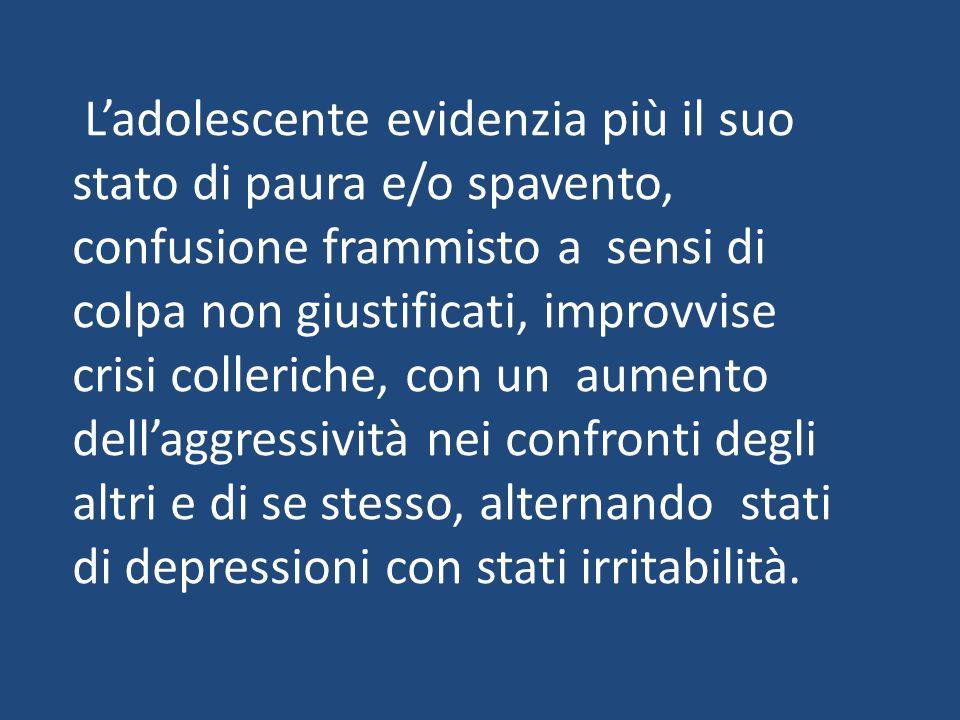 Tutti i bambini a distanza vanno incontro a disturbi emozionali, in particolare le vittime di rapporti incestuosi che mostrano debolezza mentale e senso di solitudine con carenza affettiva.