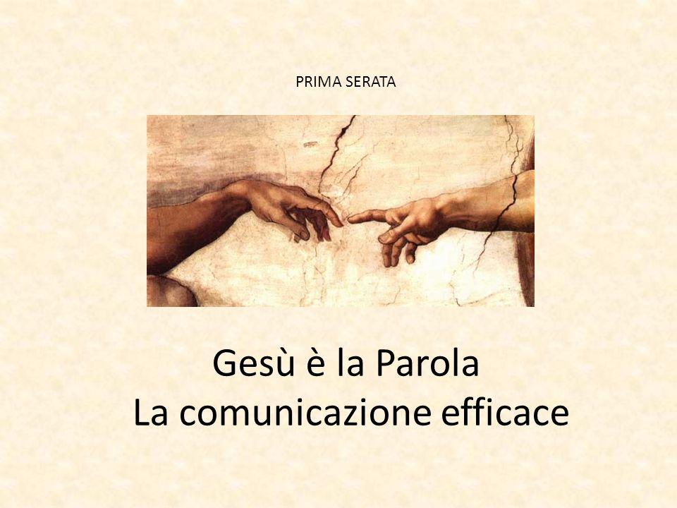 PRIMA SERATA Gesù è la Parola La comunicazione efficace