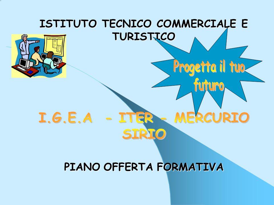 ISTITUTO TECNICO COMMERCIALE E TURISTICO PIANO O OO OFFERTA F FF FORMATIVA