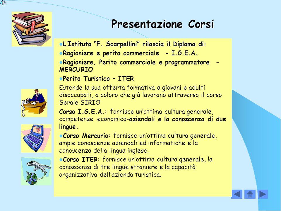 Presentazione Corsi L'Istituto F.Scarpellini rilascia il Diploma di: L'Istituto F.