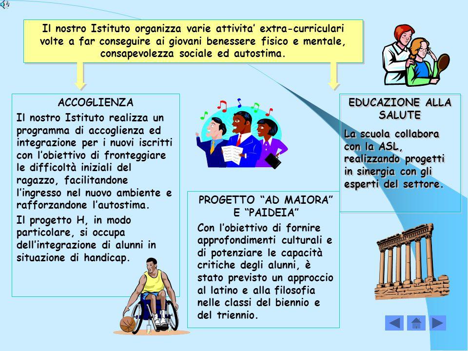 PROGETTI RAPPORTI CON IL TERRITORIO La scuola si apre al territorio attraverso costanti e proficui rapporti di collaborazione con Aziende ed Enti locali.