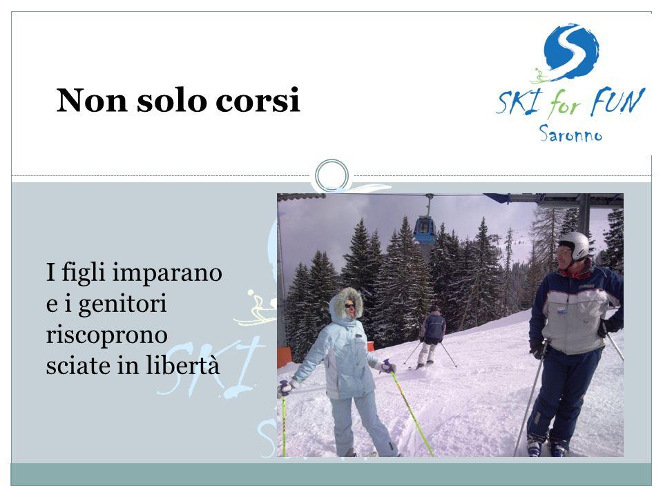 Non solo corsi I figli imparano e i genitori riscoprono sciate in libertà