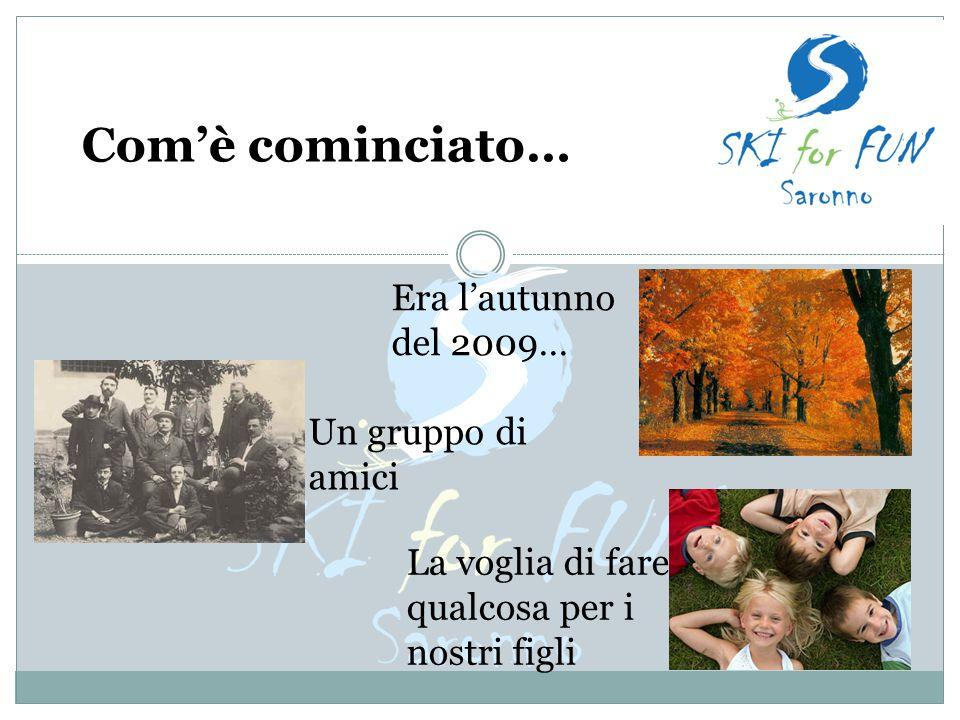 Com'è cominciato… Era l'autunno del 2009… Un gruppo di amici La voglia di fare qualcosa per i nostri figli
