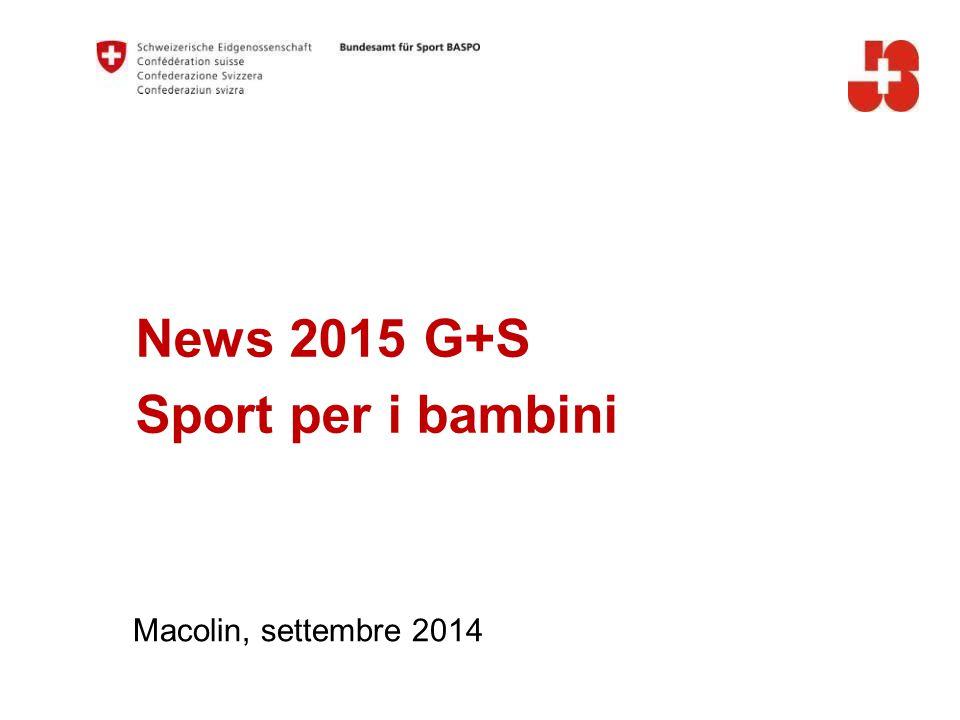 32 Ufficio federale dello sport UFSPO Gioventù+Sport Evoluzione dell'attività sportiva 1978-2014