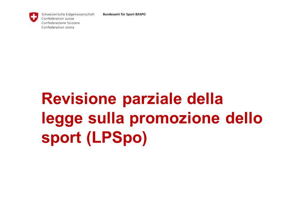 Revisione parziale della legge sulla promozione dello sport (LPSpo)