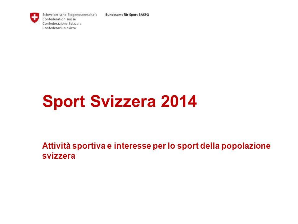 Sport Svizzera 2014 Attività sportiva e interesse per lo sport della popolazione svizzera