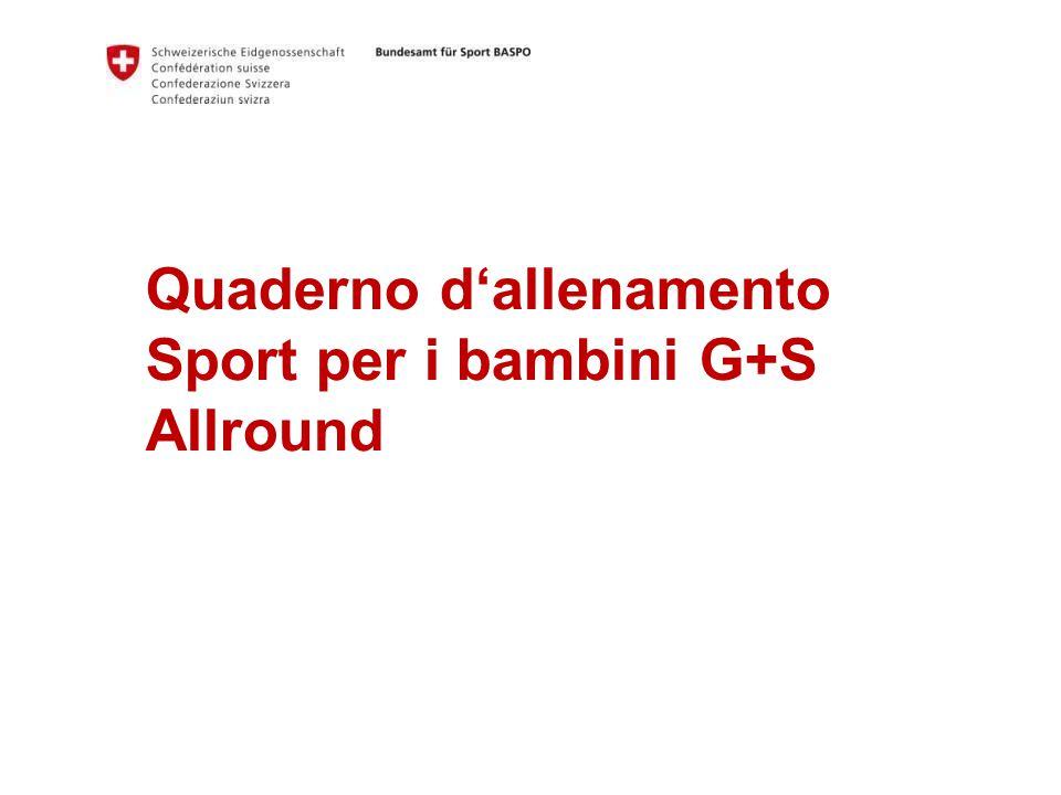 Quaderno d'allenamento Sport per i bambini G+S Allround