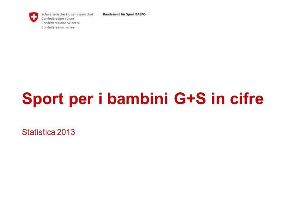 Sport per i bambini G+S in cifre Statistica 2013