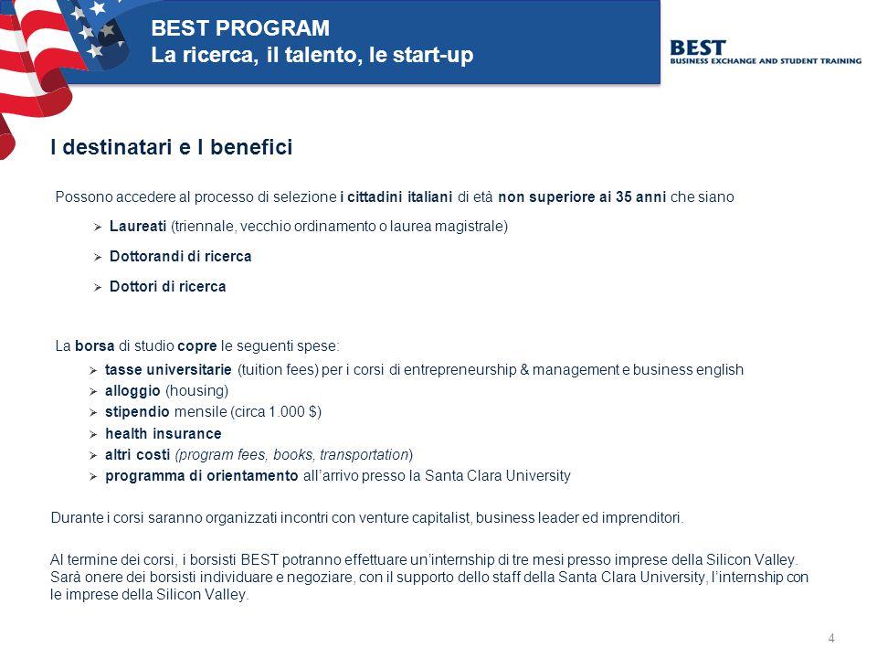 5 BEST PROGRAM La ricerca, il talento, le start-up Alcune esperienze di successo Con il programma BEST attivo dal 2006, sono state assegnate 63 borse di studio BEST e sono state lanciate 37 start-up.