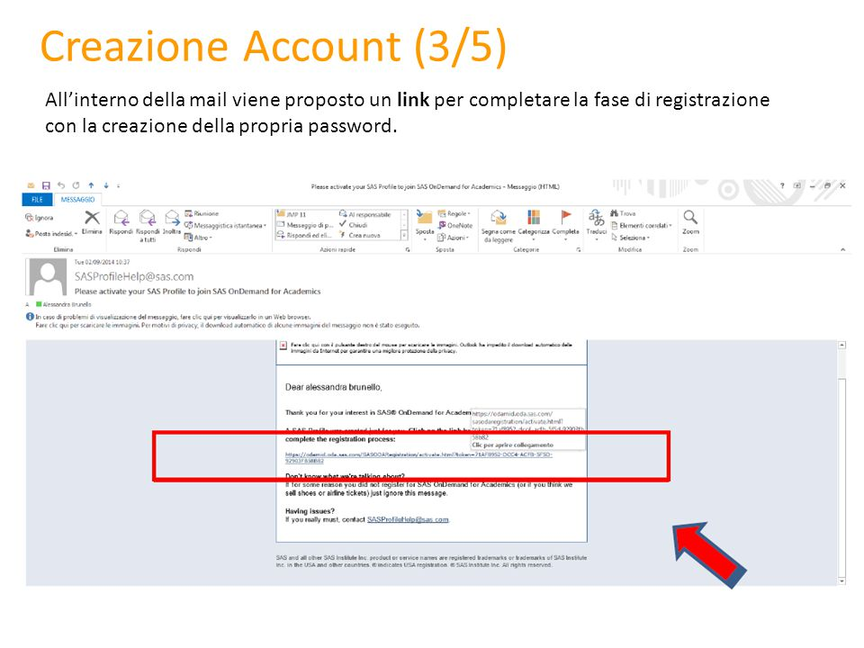 Creazione Account (4/5) Inserire una password per il proprio account Cliccare su Create Account per concludere la fase di registrazione
