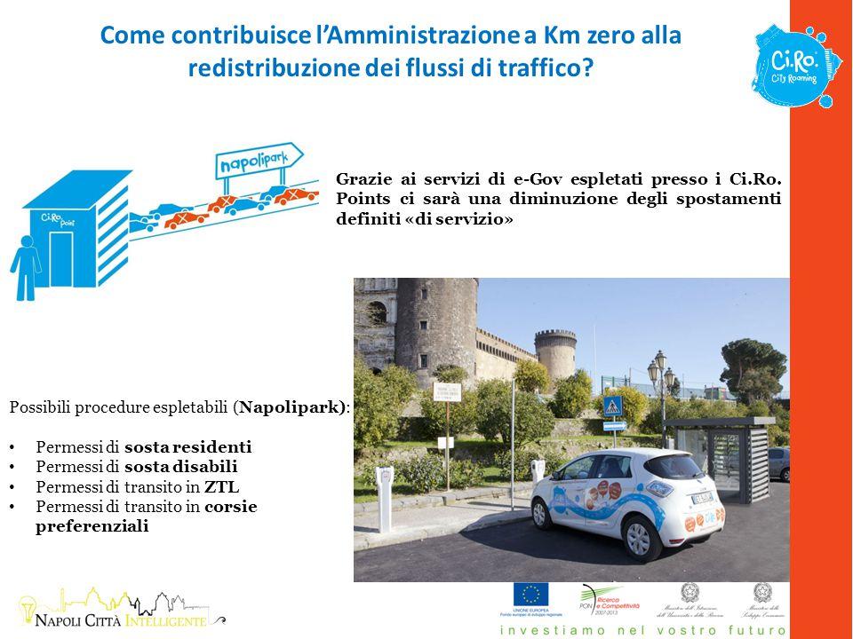 Come contribuisce l'Amministrazione a Km zero alla redistribuzione dei flussi di traffico.
