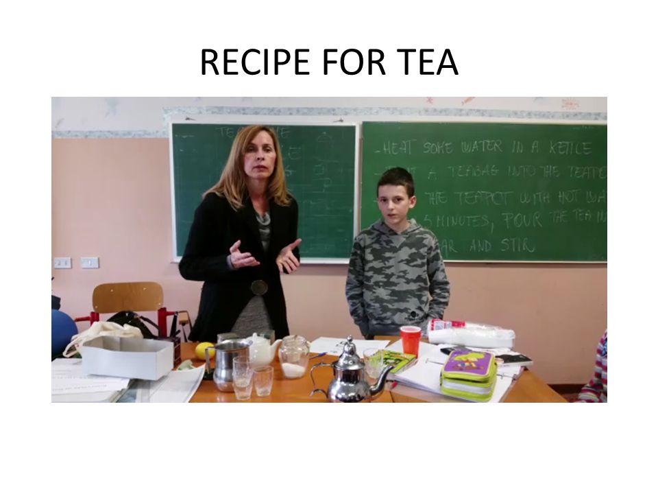 RECIPE FOR TEA