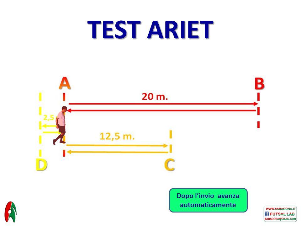 TEST ARIET Dopo l'invio avanza automaticamente