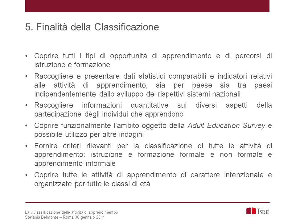 La «Classificazione delle attività di apprendimento» Stefania Belmonte – Roma 30 gennaio 2014 17.