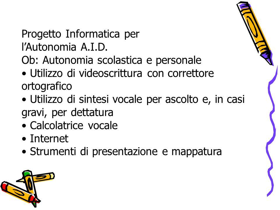 Progetto Informatica per l'Autonomia A.I.D.