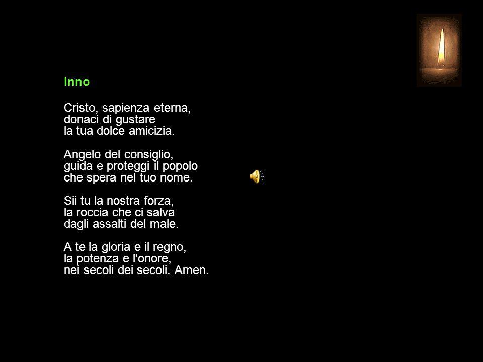 4 FEBBRAIO 2015 MERCOLEDÌ - IV SETTIMANA DEL TEMPO ORDINARIO UFFICIO DELLE LETTURE INVITATORIO V. Signore, apri le mie labbra R. e la mia bocca procla