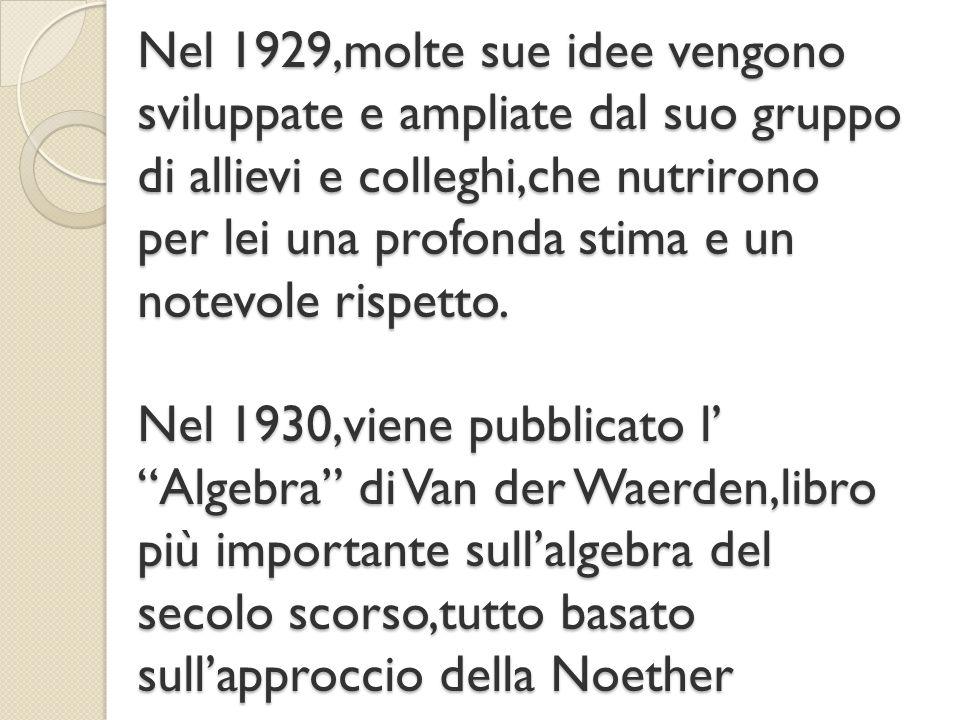 Tutto questo lavoro e questi studi per arrivare a un traguardo molto importante:il Congresso mondiale dei matematici a Zurigo del 1932,in cui tiene una plenary lecture.