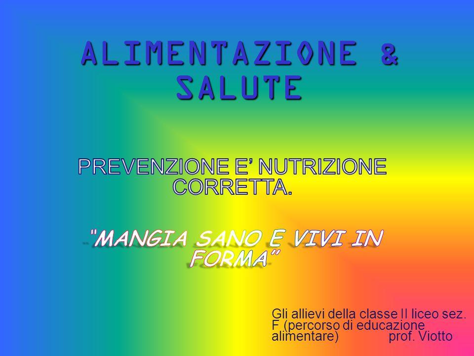 Corretto Stile di Vita Esercizio fisico almeno 30 minuti al giorno NO fumo/droghe CORRETTA ALIMENTAZIONE Una corretta alimentazione consiste nell'assunzione di -Proteine(12%)Grassi(30%)Carboidrati(58%) Vitamine, Sali minerali, Fibre