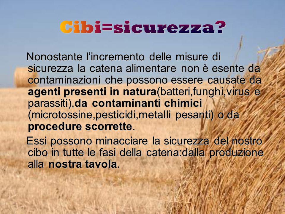 Nonostante l'incremento delle misure di sicurezza la catena alimentare non è esente da contaminazioni che possono essere causate da agenti presenti in natura(batteri,funghi,virus e parassiti),da contaminanti chimici (microtossine,pesticidi,metalli pesanti) o da procedure scorrette.