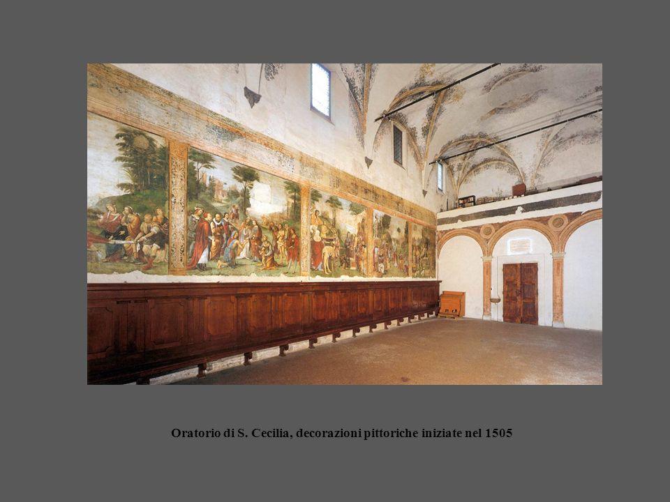 Oratorio di S. Cecilia, decorazioni pittoriche iniziate nel 1505