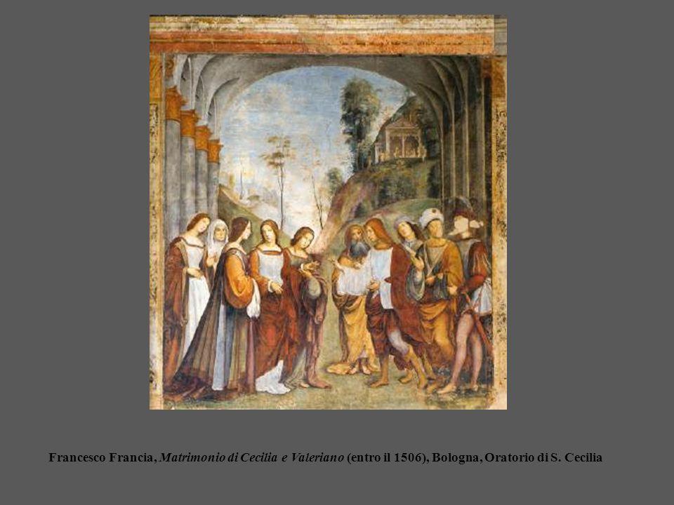 Francesco Francia, Matrimonio di Cecilia e Valeriano (entro il 1506), Bologna, Oratorio di S. Cecilia