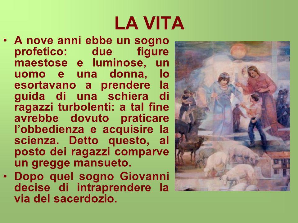 LA VITA Nel 1841, giovane prete, arrivò a Torino e vide come vivevano tanti ragazzi: molti vagavano sbandati, altri lavoravano 14 ore nelle filande con una paga da fame.