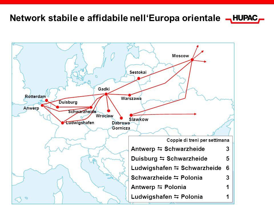 Primo collegamento da Istanbul a Vienna Rotterdam Buna/Sckopau Schwarzheide Duisburg Halkali Wien