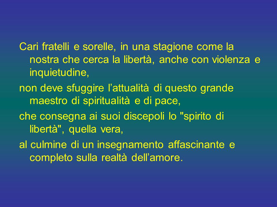 Non per niente, all'origine di molte vie della pedagogia e della spiritualità del nostro tempo ritroviamo proprio la traccia di questo maestro, senza il quale non vi sarebbero stati san Giovanni Bosco né l'eroica piccola via di santa Teresa di Lisieux.