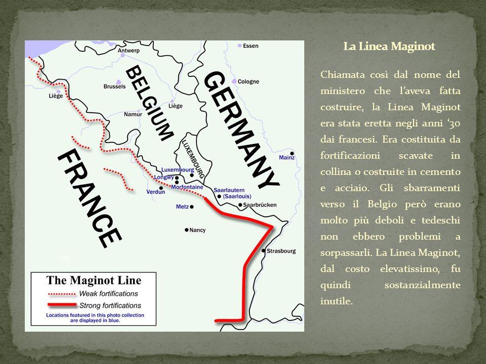 Chiamata così dal nome del ministero che l'aveva fatta costruire, la Linea Maginot era stata eretta negli anni '30 dai francesi. Era costituita da for