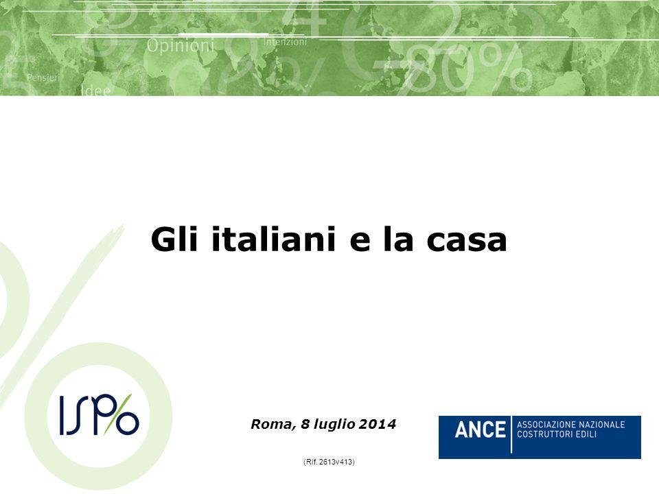 Roma, 8 luglio 2014 (Rif. 2613v413) Gli italiani e la casa