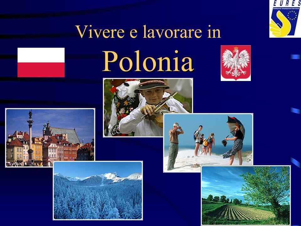 Informazioni generali localizzazioneEuropa Centrale popolazione (2008)38,1 mil, di cui 62% vive in città superficie312.685 km2, 91% in pianura (<300 m.s.l.m.) capitaleWarszawa (Varsavia) 1,6 mln abitanti città principali Łódź, Kraków (Cracovia), Wrocław (Breslavia) Poznań, Gdańsk (Danzica), Szczecin (Stettino) lingua ufficialepolacco moneta1 zloty (PLN) = 100 groszy ( 1€ ~ 3,50 PLN) sistema politico repubblica parlamentare Fonte: ICE Polonia, Istituto nazionale per il Commercio Estero