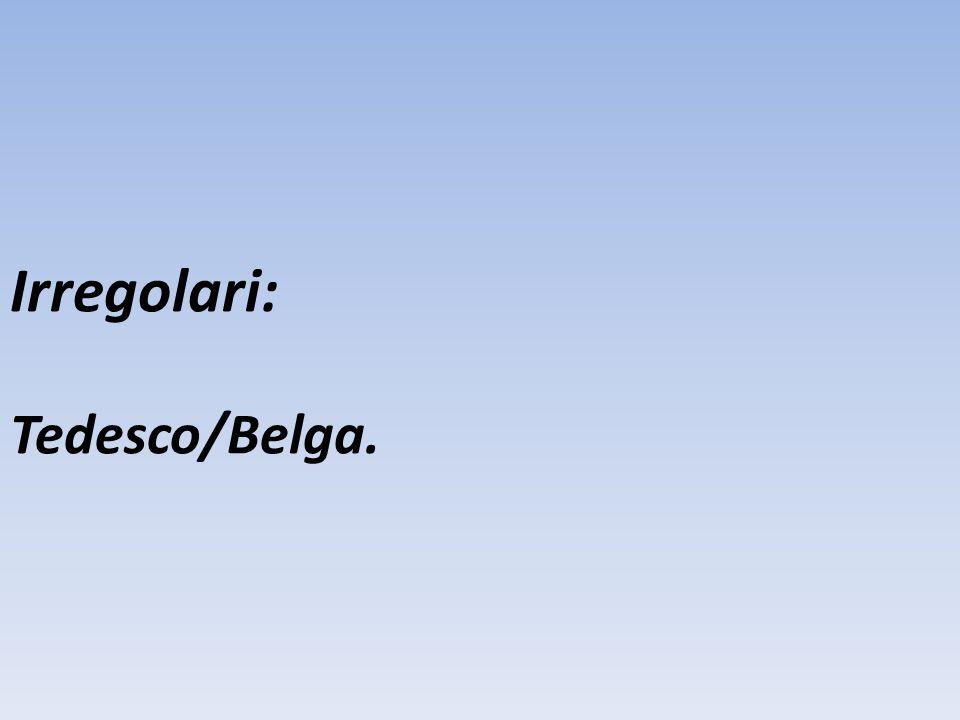Irregolari: Tedesco/Belga.