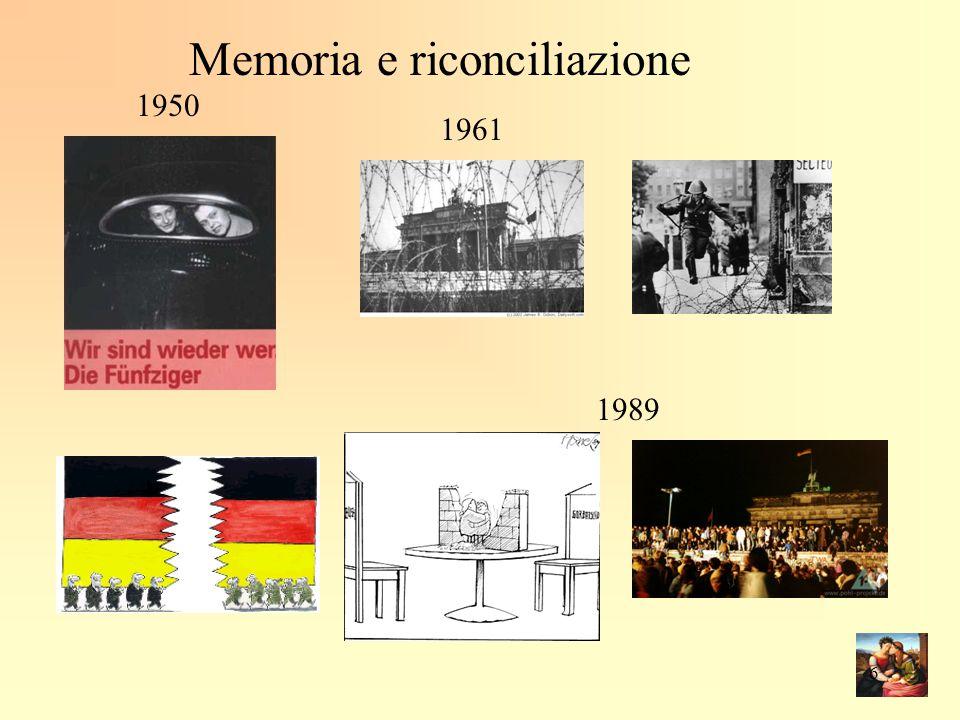 1950 1961 1989 Memoria e riconciliazione 6