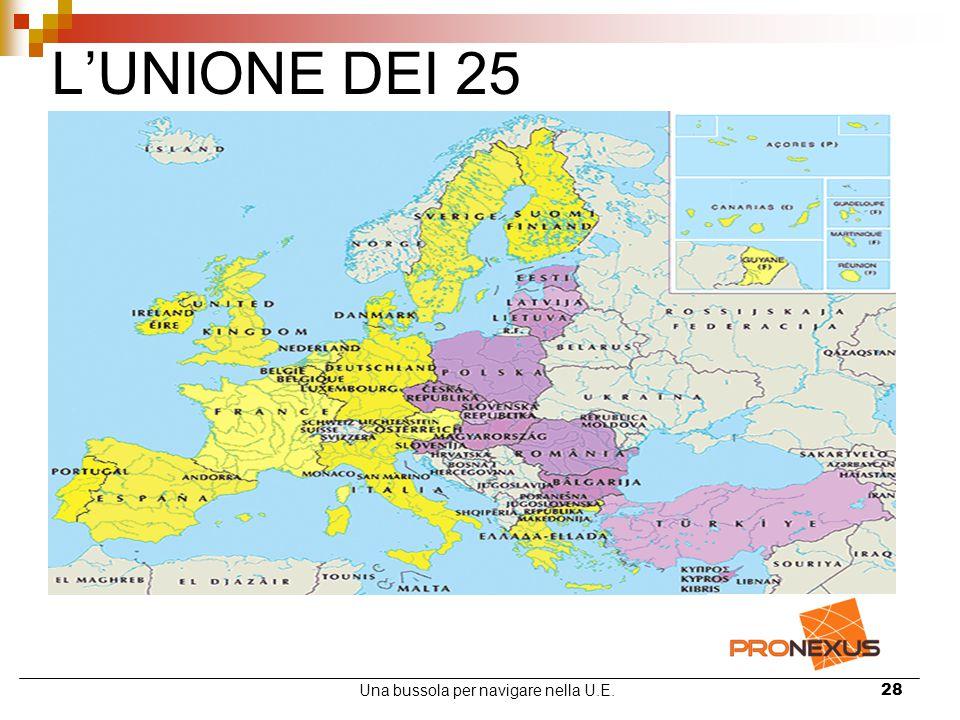 Una bussola per navigare nella U.E.28 L'UNIONE DEI 25