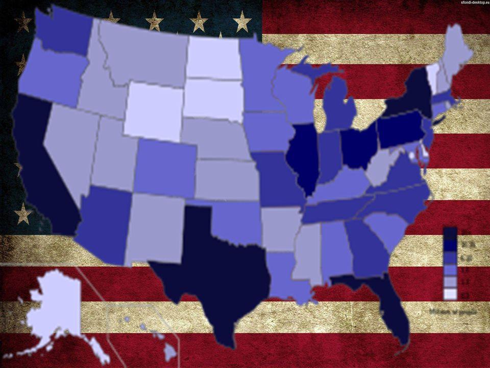 POSIZIONE E TERRITORIO Gli Stati uniti si trovano nel nord America.