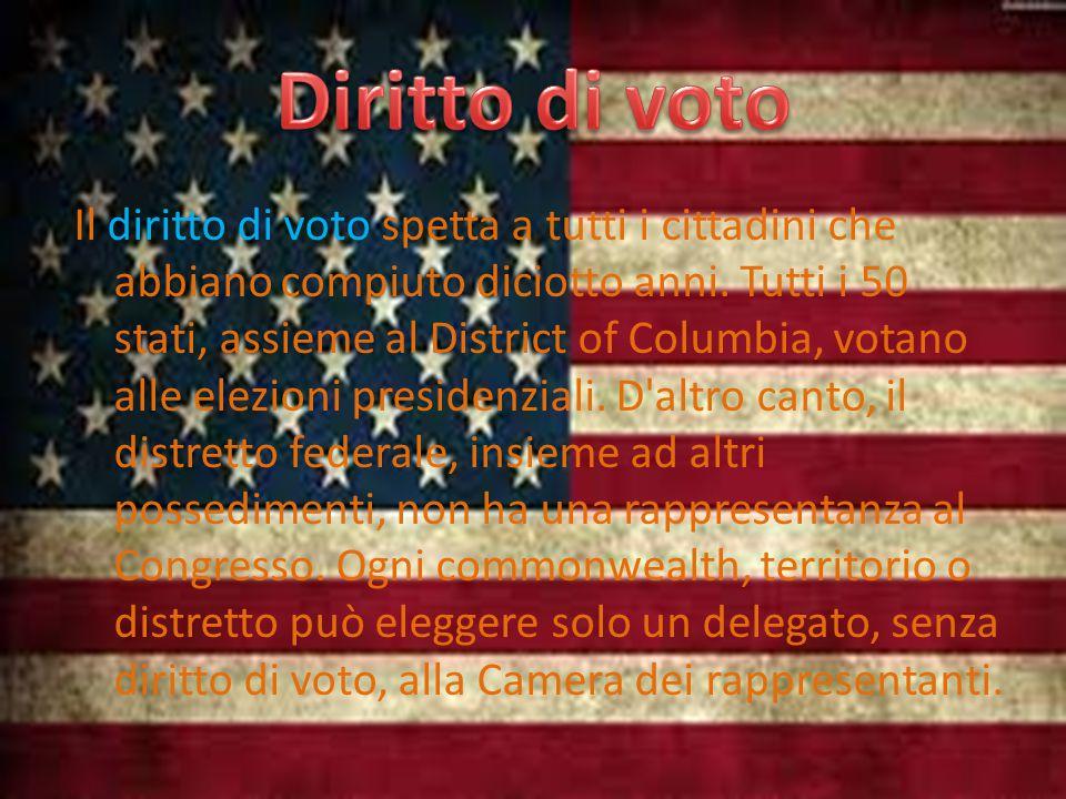Il diritto di voto spetta a tutti i cittadini che abbiano compiuto diciotto anni.