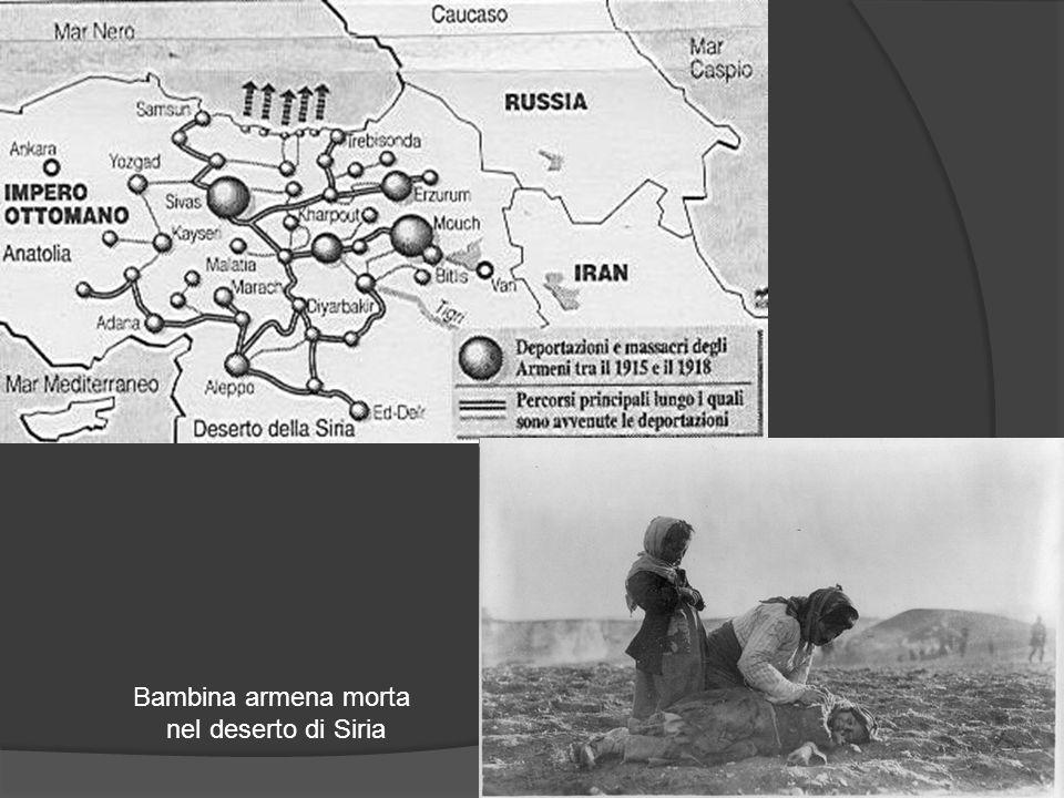 Bambina armena morta nel deserto di Siria