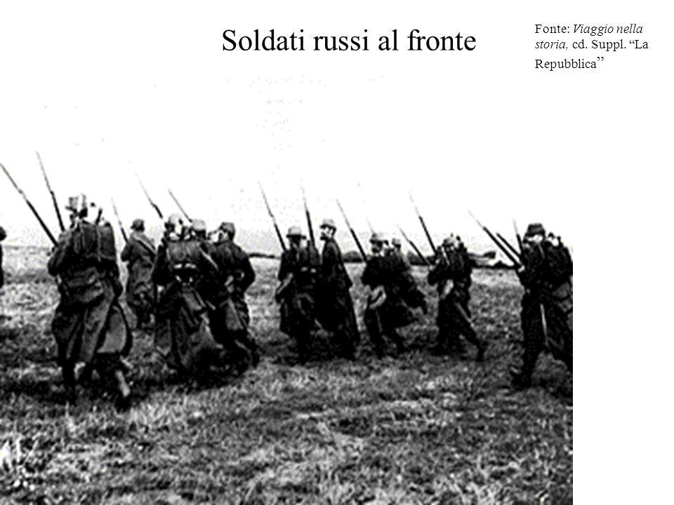 """Soldati russi al fronte Fonte: Viaggio nella storia, cd. Suppl. """"La Repubblica """""""