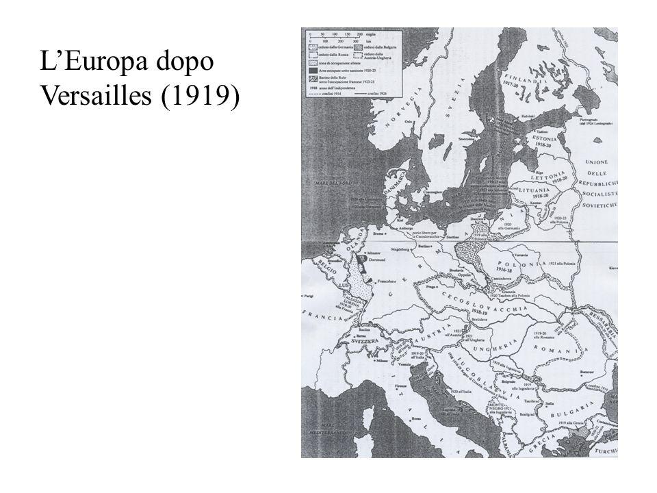 L'Europa dopo Versailles (1919)