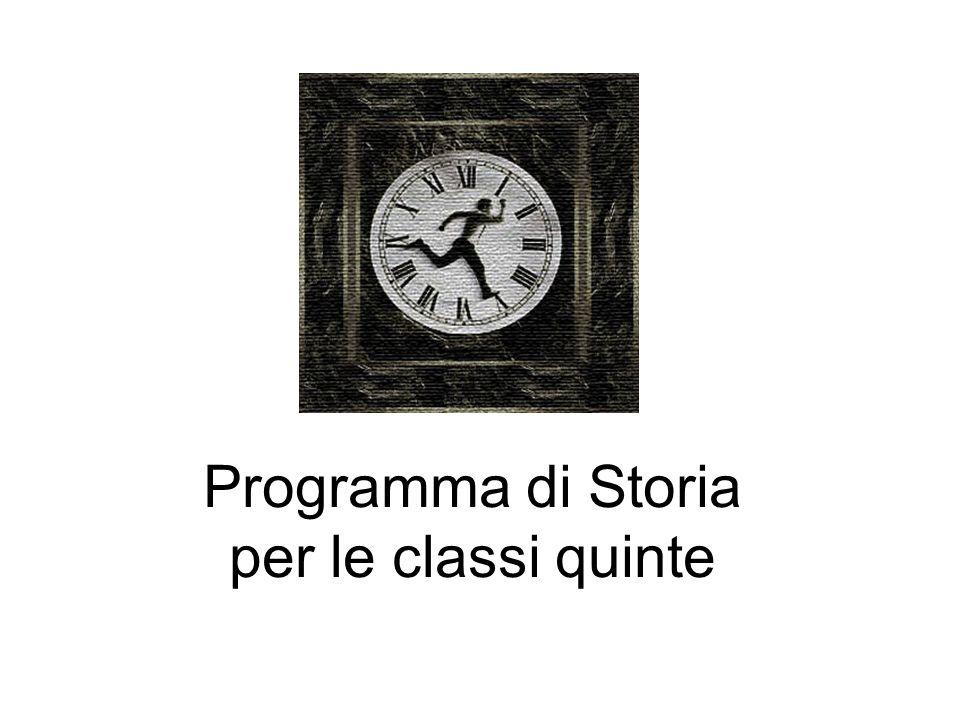 Programma di Storia per le classi quinte
